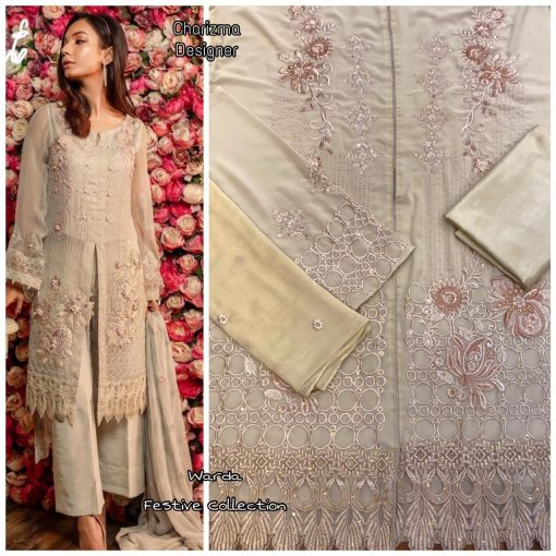 Charizma Warda Festival Collection designer salwar suits in georgette fabric with heavy dupatta fully designer collection 4