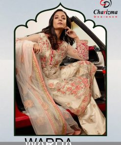 Charizma Warda Festival Collection designer salwar suits in georgette fabric with heavy dupatta fully designer collection 18