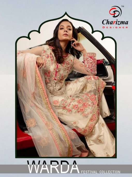 Charizma Warda Festival Collection designer salwar suits in georgette fabric with heavy dupatta fully designer collection 1