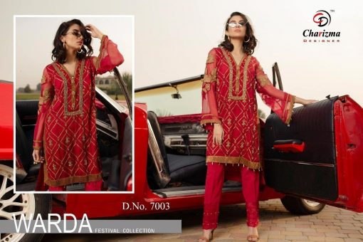 Charizma Warda Festival Collection designer salwar suits in georgette fabric with heavy dupatta fully designer collection 6