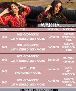 Charizma Warda Festival Collection designer salwar suits in georgette fabric with heavy dupatta fully designer collection 23