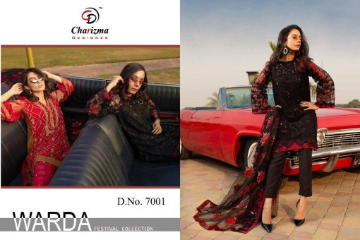 Charizma Warda Festival Collection designer salwar suits in georgette fabric with heavy dupatta fully designer collection 12