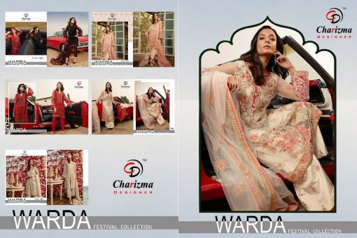 Charizma Warda Festival Collection designer salwar suits in georgette fabric with heavy dupatta fully designer collection 13