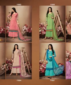 hansa present hidaya vol 11 pure cotton embroidery salwar kameez wholesale 23
