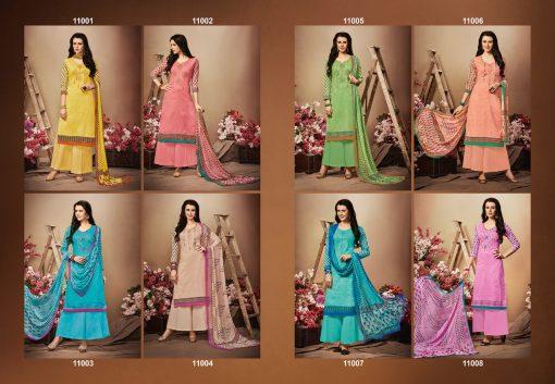 hansa present hidaya vol 11 pure cotton embroidery salwar kameez wholesale 11