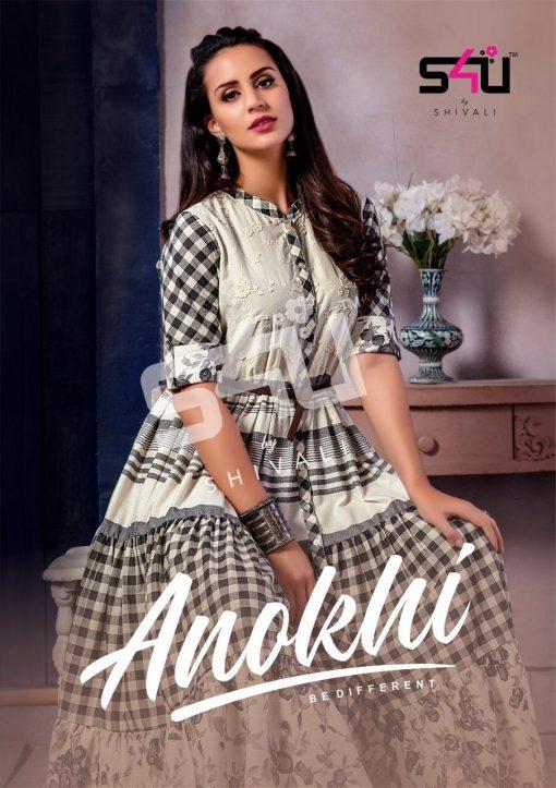 s4u anokhi designer heavy western cut kurti collection 1