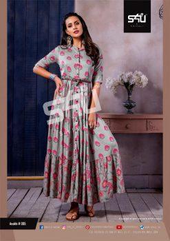 s4u anokhi designer heavy western cut kurti collection 12