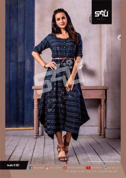 s4u anokhi designer heavy western cut kurti collection 15