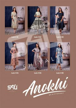 s4u anokhi designer heavy western cut kurti collection 17