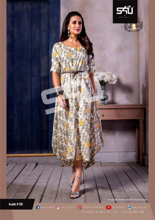 s4u anokhi designer heavy western cut kurti collection 9
