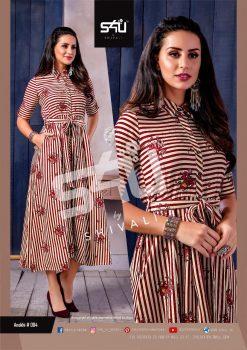 s4u anokhi designer heavy western cut kurti collection 19
