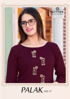 MITTOO PALAK VOL 17 KURTI WHOLESALER 15