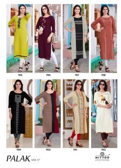MITTOO PALAK VOL 17 KURTI WHOLESALER 16