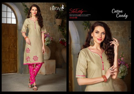 hirwa presents cotton candy linen kurti with ikkat dhoti pants 2