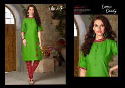 hirwa presents cotton candy linen kurti with ikkat dhoti pants 11