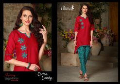 hirwa presents cotton candy linen kurti with ikkat dhoti pants 12