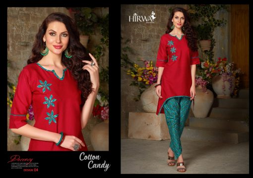 hirwa presents cotton candy linen kurti with ikkat dhoti pants 4