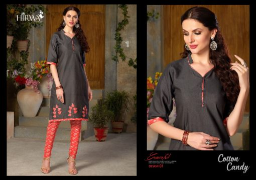hirwa presents cotton candy linen kurti with ikkat dhoti pants 5