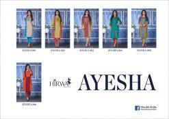 hirwa present ayesha fancy rayon long kurti wholesale price 12