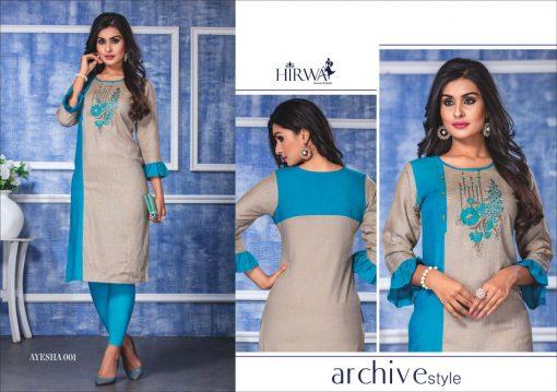 hirwa present ayesha fancy rayon long kurti wholesale price 5