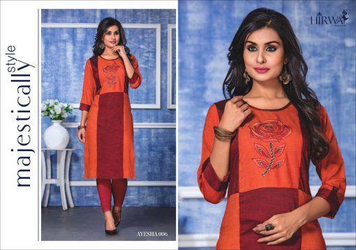 hirwa present ayesha fancy rayon long kurti wholesale price 6