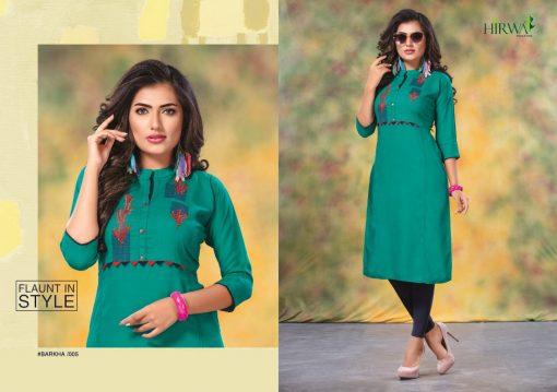 hirwa kurti barkha vol 5 fancy ladies readymade kurtis wholesale store 2