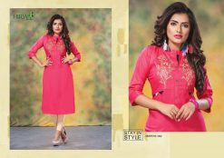 hirwa kurti barkha vol 5 fancy ladies readymade kurtis wholesale store 11