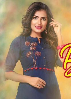 hirwa kurti barkha vol 5 fancy ladies readymade kurtis wholesale store 12