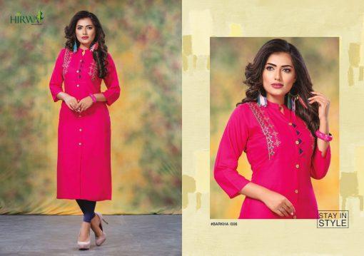 hirwa kurti barkha vol 5 fancy ladies readymade kurtis wholesale store 5
