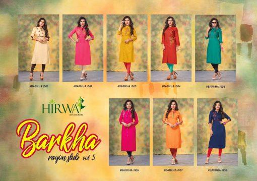 hirwa kurti barkha vol 5 fancy ladies readymade kurtis wholesale store 6