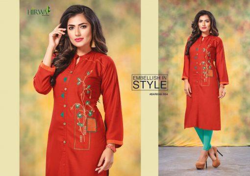hirwa kurti barkha vol 5 fancy ladies readymade kurtis wholesale store 7