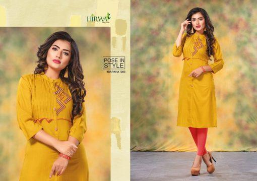 hirwa kurti barkha vol 5 fancy ladies readymade kurtis wholesale store 8