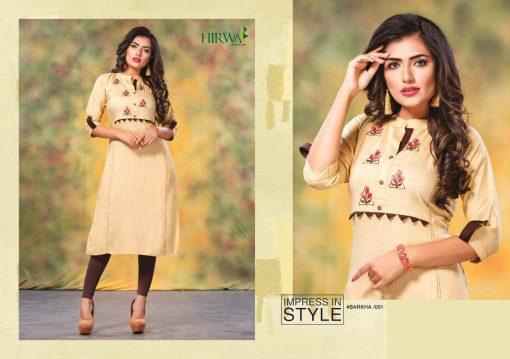 hirwa kurti barkha vol 5 fancy ladies readymade kurtis wholesale store 9