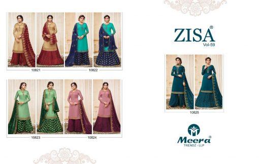 meera zisa vol 59 lehenga style designer dresses wholesale supplier in surat 5