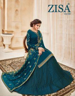 meera zisa vol 59 lehenga style designer dresses wholesale supplier in surat 20