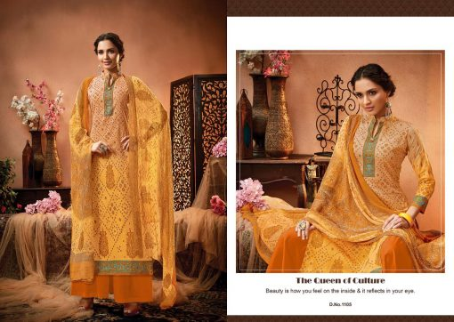 meenaz satrangi bandhej cotton print ladies suits catalog 11
