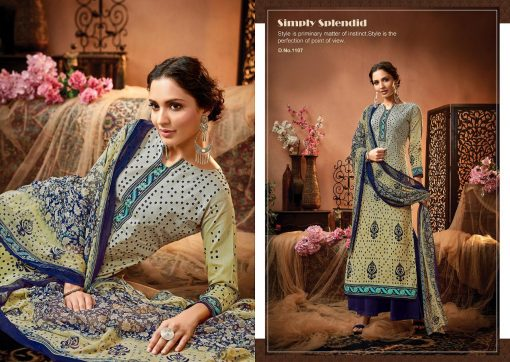 meenaz satrangi bandhej cotton print ladies suits catalog 15
