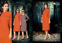 riya designer culture vol 3 casual wear fancy kurti online 11