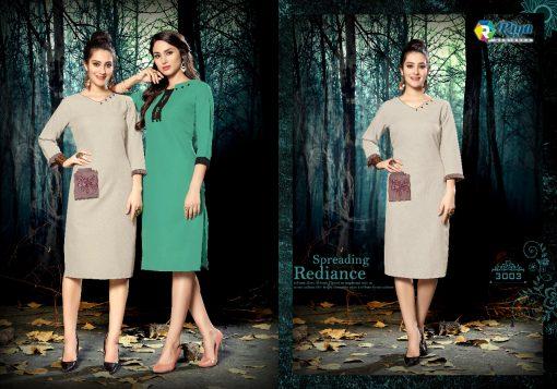 riya designer culture vol 3 casual wear fancy kurti online 3
