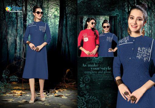 riya designer culture vol 3 casual wear fancy kurti online 5