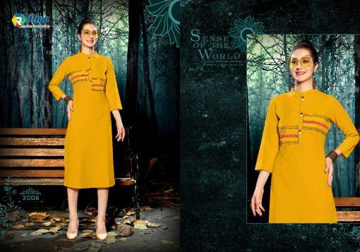 riya designer culture vol 3 casual wear fancy kurti online 6