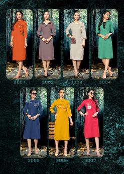 riya designer culture vol 3 casual wear fancy kurti online 19