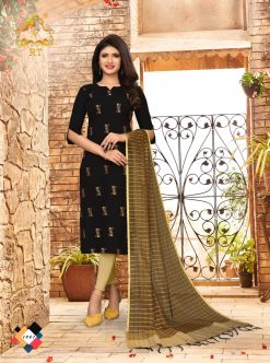 nari vol 10 rijiya trends cotton kurti with banarsi dupatta collection 15
