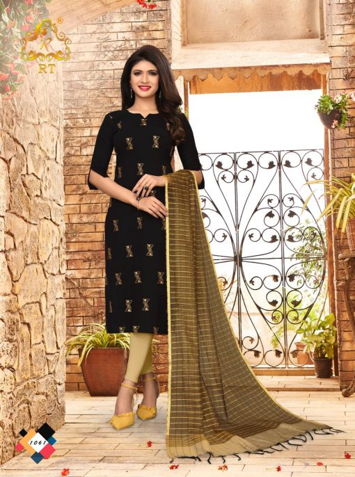nari vol 10 rijiya trends cotton kurti with banarsi dupatta collection 4