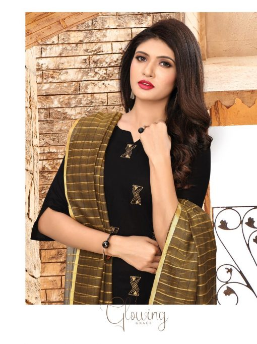 nari vol 10 rijiya trends cotton kurti with banarsi dupatta collection 6