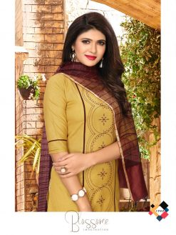 nari vol 10 rijiya trends cotton kurti with banarsi dupatta collection 18