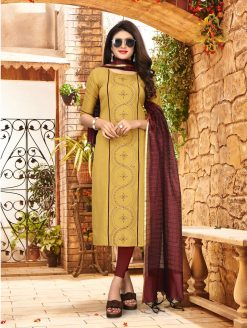 nari vol 10 rijiya trends cotton kurti with banarsi dupatta collection 19