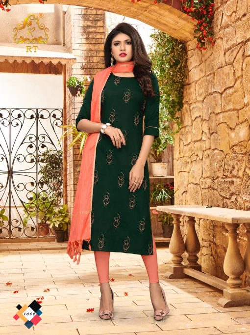 nari vol 10 rijiya trends cotton kurti with banarsi dupatta collection 10