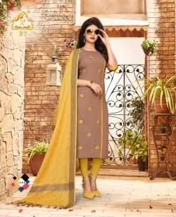 nari vol 10 rijiya trends cotton kurti with banarsi dupatta collection 22