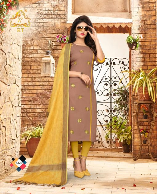 nari vol 10 rijiya trends cotton kurti with banarsi dupatta collection 11